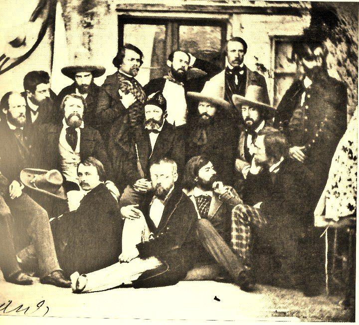 Garibaldini all'osteria ini via delle fornaci oggi Antica Pesa)