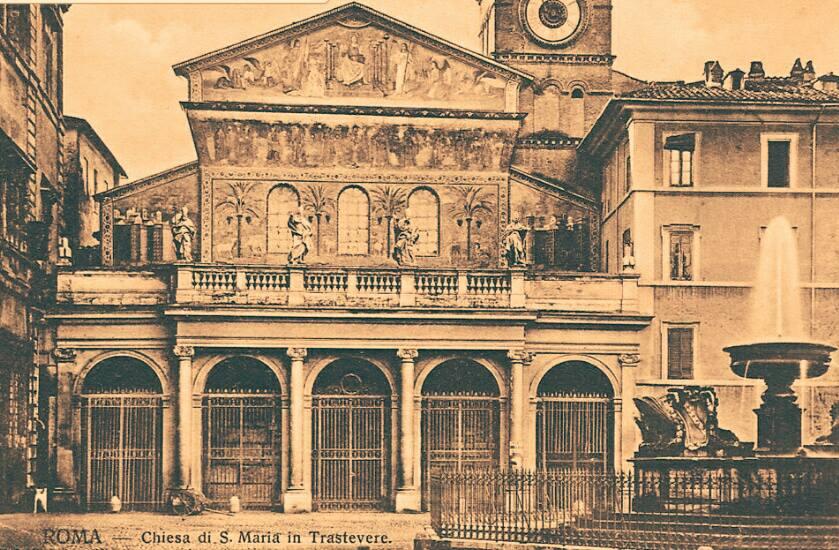 1867, la facciata appena rifata dal Vespignani